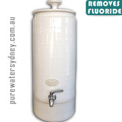 Ultra slim white pearl gravity water purifier with fluoride filter