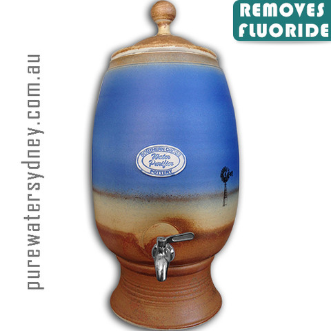 Dark Blue Windmill gravity water purifier with fluoride filter