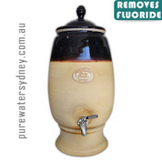 Tenmoku and sand gravity water purifier with stainless steel tap & fluoride filter