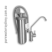 Stainless Steel single undersink water purifier with stainless steel faucet