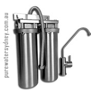 Stainless steel twin undersink water purifier