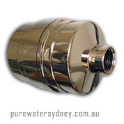 Solid brass gold finish shower filter