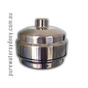 Solid brass brushed nickel finish shower filter
