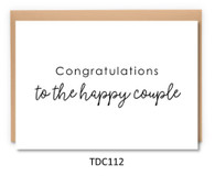 TDC112 - Congratulations to the Happy Couple
