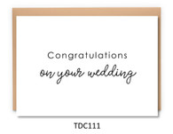 TDC111 - Congratulations on your Wedding