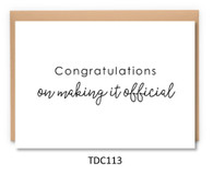 TDC113 - Congratulations on Making it Official