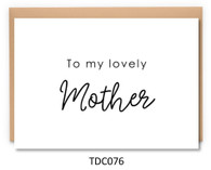 TDC076 - To my lovely Mother