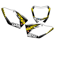 MAYHEM YELLOW CUSTOM MX PLATES