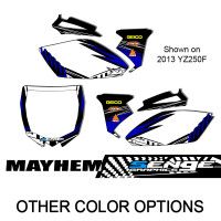 MAYHEM BLUE CUSTOM MX PLATES