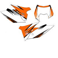 VELOCITY ORANGE MX NUMBER BACKGROUNDS