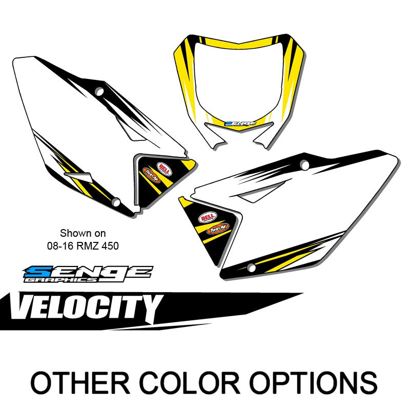 SUZUKI RMZ 450 Custom MX Number Background Decals