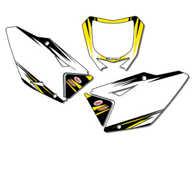 SUZUKI DRZ 125 Custom MX Number Background Decals