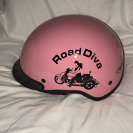DOT Pink Trike motorcycle helmet