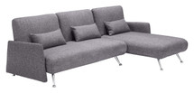Bizard Sleeper Sectional By Zuo Modern