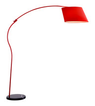 Derecho Floor Lamp Red By Zuo Pure