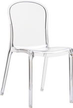 Victoria Polycarbonate Modern Chair Clear Transparent Sold in Sets of 4 033