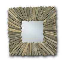 Beachhead Mirror, Square By Currey & Company