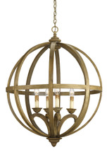 Axel Orb Chandelier, Large By Currey & Company