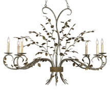 Raintree Oval Chandelier By Currey & Company