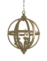 Axel Orb Chandelier, Small By Currey & Company