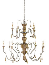Mansion Chandelier, Large By Currey & Company