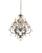 Heirloom Chandelier, Small By Currey & Company