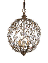 Crystal Bud Sphere Chandelier By Currey & Company