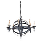 Armillary Sphere Chandelier By Currey & Company