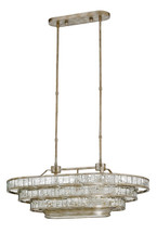 Frappé Oval Chandelier By Currey & Company