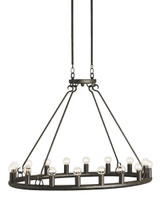 Wilford Oval Chandelier By Currey & Company