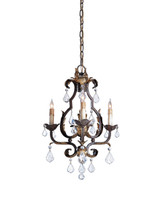 Tuscan Chandelier, Small By Currey & Company