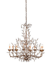Crystal Bud Chandelier, Large By Currey & Company