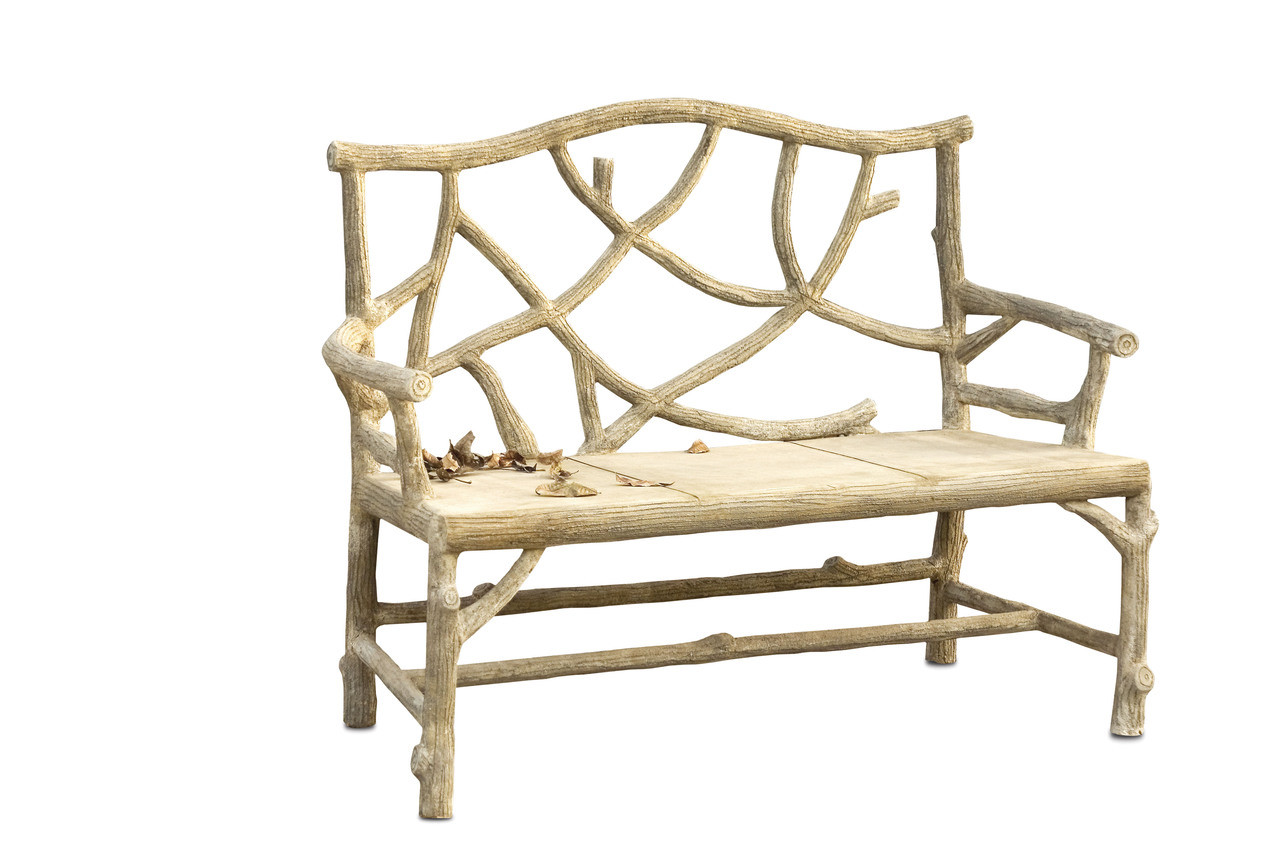Amazing Woodland Bench By Currey Company Laurel At Sunset Inc Bralicious Painted Fabric Chair Ideas Braliciousco