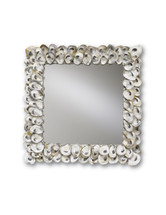 Oyster Shell Mirror, Square By Currey & Company