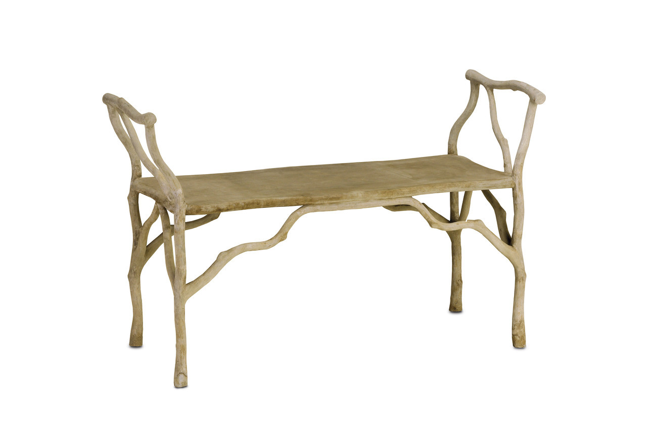 Amazing Beaujon Bench By Currey Company Laurel At Sunset Inc Bralicious Painted Fabric Chair Ideas Braliciousco