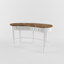 Model of Charleston Regency-Pinckney Kidney Desk in Ropemaker's White STN-302-25-04