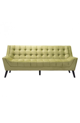 Miraculous Nuntucket Sofa In Green Velvet By Zuo Modern Laurel At Andrewgaddart Wooden Chair Designs For Living Room Andrewgaddartcom