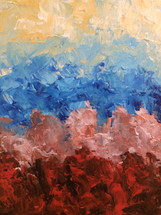 Beautiful Pastel Original Acrylic Painting