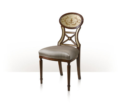 Groovy Eglomise Accent Chair Ta 4000 579 1Abl By Theodore Alexander Short Links Chair Design For Home Short Linksinfo