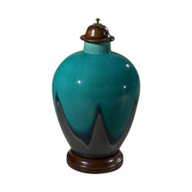 Peacock Blue Studio Vase by Theodore Alexander