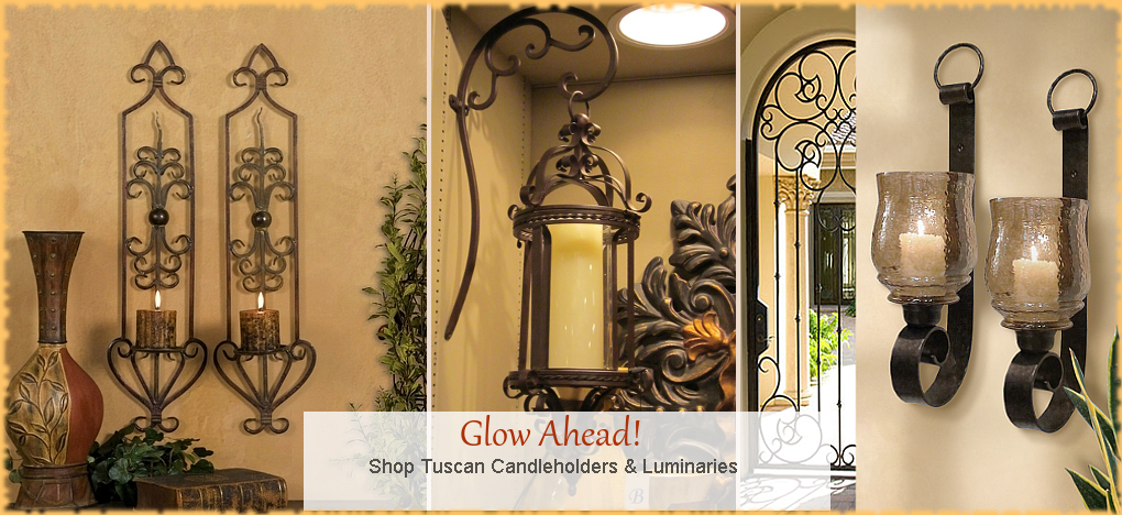 BellaSoleil.com - Tuscan, Mediterranean Style Candle Holders   FREE Shipping, No Sales Tax   BellaSoleil.com Tuscan Decor Since 1996