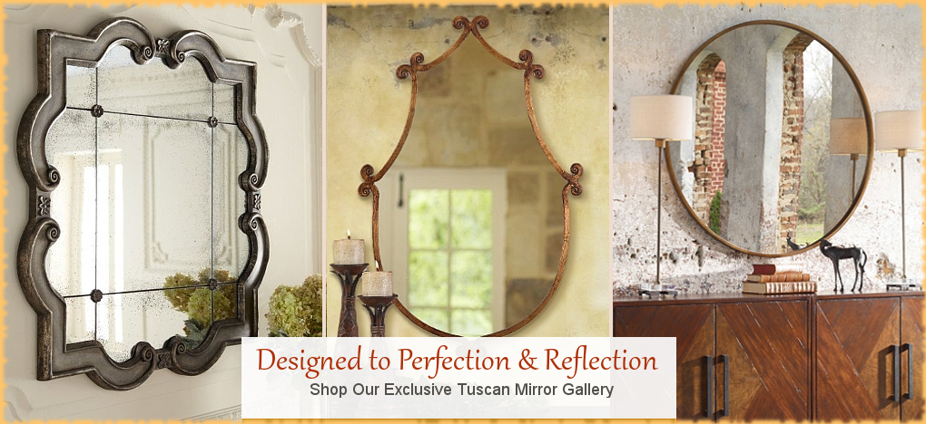 BellaSoleil.com - Tuscan, Mediterranean Style Wall Mirrors | FREE Shipping, No Sales Tax | BellaSoleil.com Tuscan Decor Since 1996