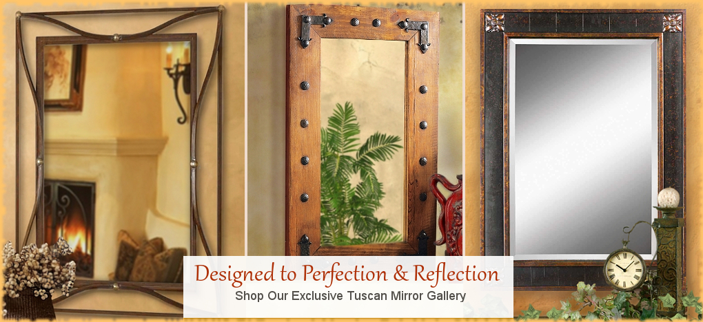 BellaSoleil.com - Farmhouse, Tuscan, Mediterranean Style Wall Mirrors | FREE Shipping, No Sales Tax | BellaSoleil.com Tuscan Decor Since 1996
