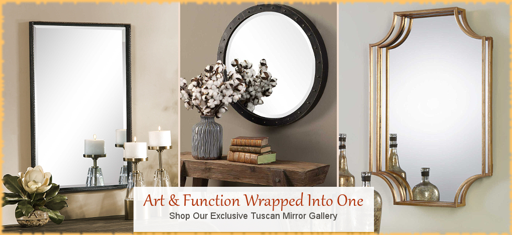 BellaSoleil.com - Farmhouse, Tuscan, Mediterranean Style Wall Mirrors | FREE Shipping, No Sales Tax | BellaSoleil.com Tuscan Decor Since 1996