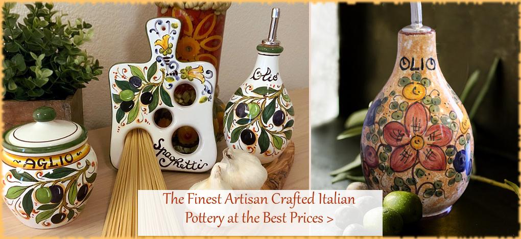 Italian Pottery Italian Ceramics from Deruta Tuscany Sicily | Free Shipping, No Sales Tax | BellaSoleil.com Since 1996