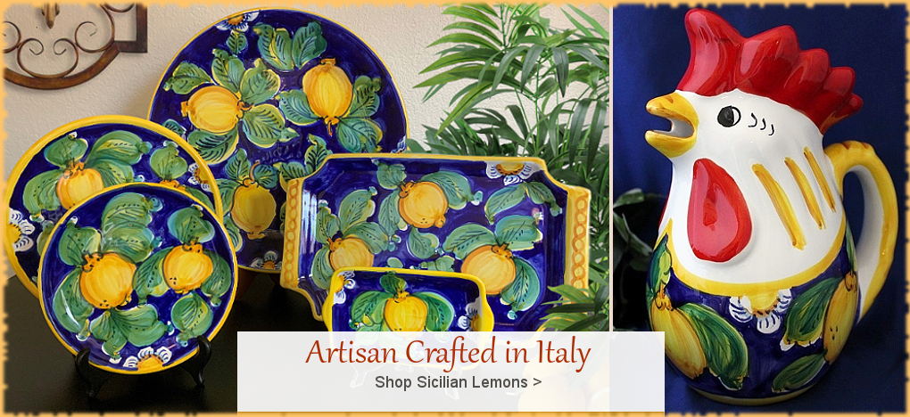 BellaSoleil.com Italian Pottery Italian Ceramics from Deruta, Tuscany, Sicily | FREE Shipping, No Sales Tax | BellaSoleil.com Tuscan Decor Since 1996