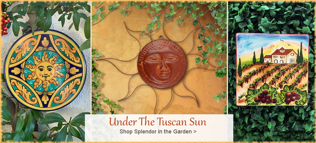 Italian Wall Tile Made in Italy | Mexican Talavera | FREE Shipping, No Sales Tax | BellaSoleil.com Tuscan Decor Since 1996