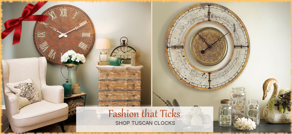 BellaSoleil.com - Farmhouse, Tuscan, Mediterranean Style Wall Clocks | FREE Shipping, No Sales Tax | BellaSoleil.com Tuscan Decor Since 1996