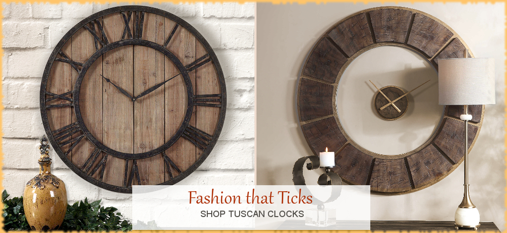 BellaSoleil.com - Tuscan, Mediterranean Style Wall Clocks | FREE Shipping, No Sales Tax | BellaSoleil.com Tuscan Decor Since 1996