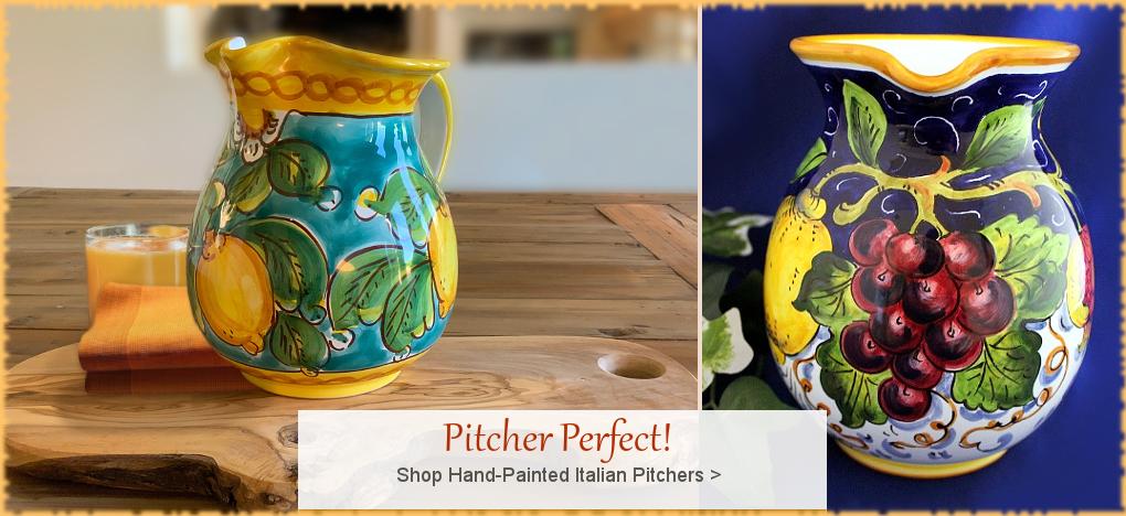BellaSoleil.com - Italian Pottery Italian Ceramics Pitchers | FREE Shipping, No Sales Tax | BellaSoleil.com Tuscan Decor Since 1996
